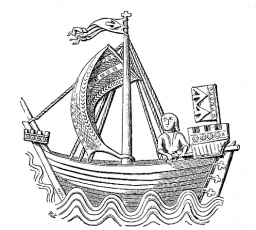 Clinker-built medieval ship